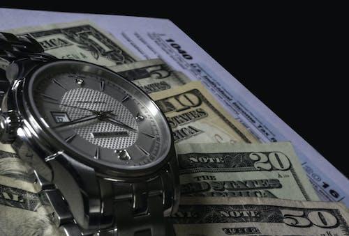 お金, アメリカ, 時間, 現金の無料の写真素材