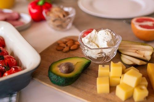 Foto d'estoc gratuïta de canvacustombrief, deliciós, formatge, fruita