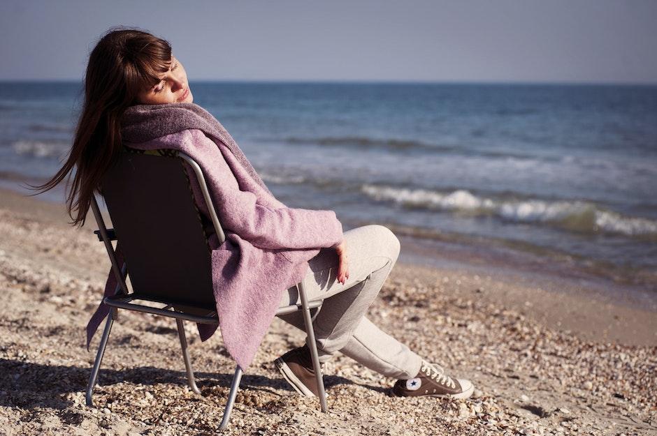 alone, beach, beautiful