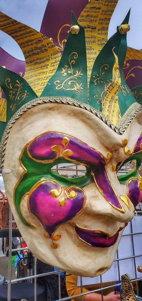 Fotos de stock gratuitas de baile de máscaras, dorado, gigante
