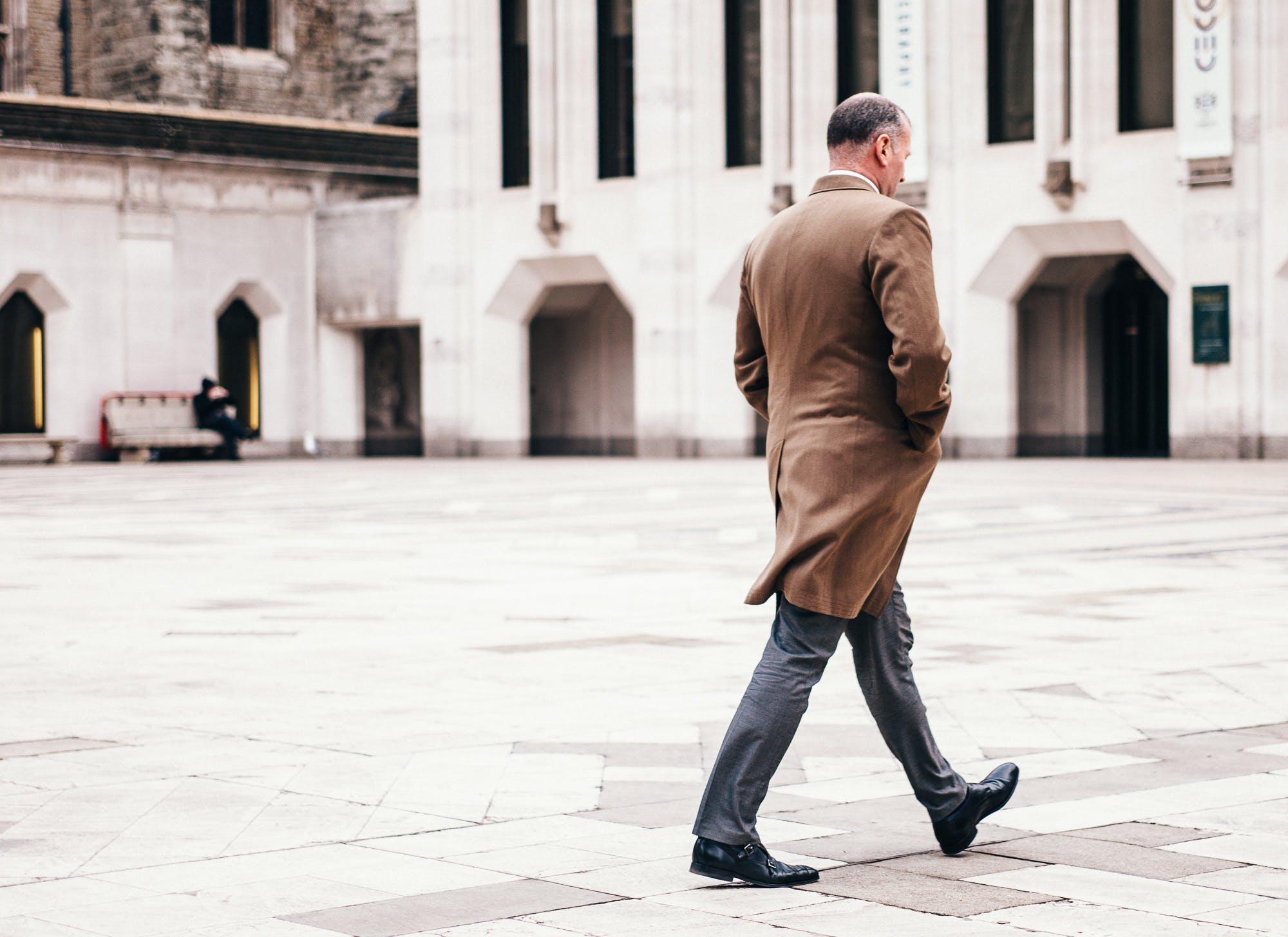 Man Walking Near Building