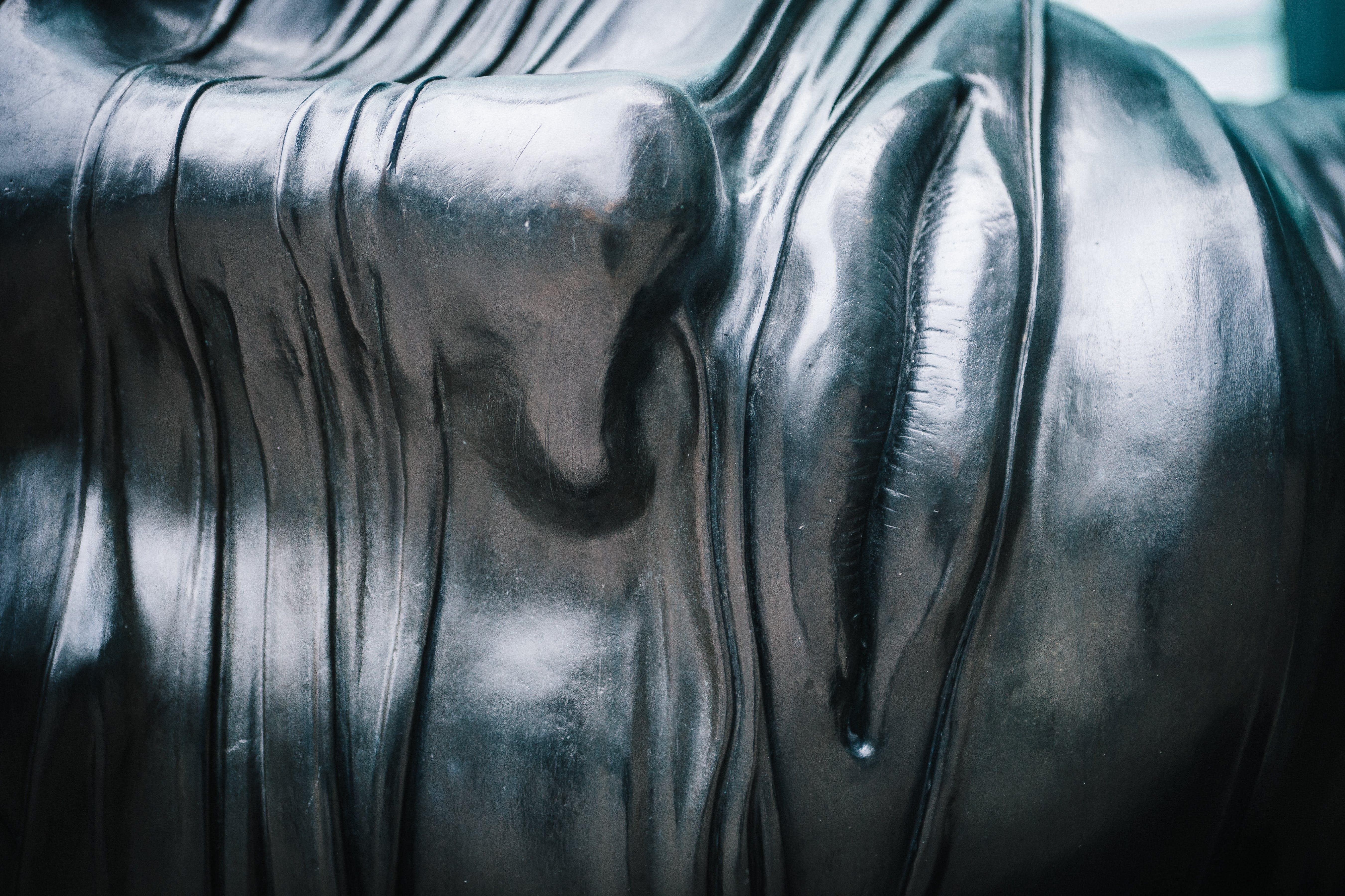 Person's Face Statue