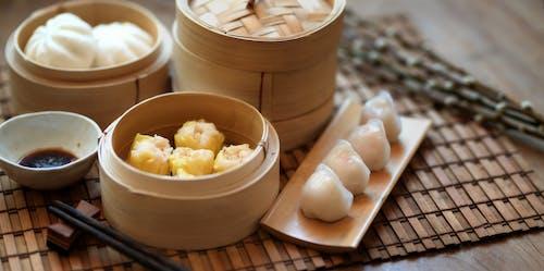 Kostenloses Stock Foto zu asiatische küche, asiatisches essen, bambusdampfkocher, essen