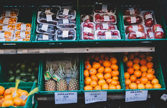 Free stock photo of food, fruits, display, shopping