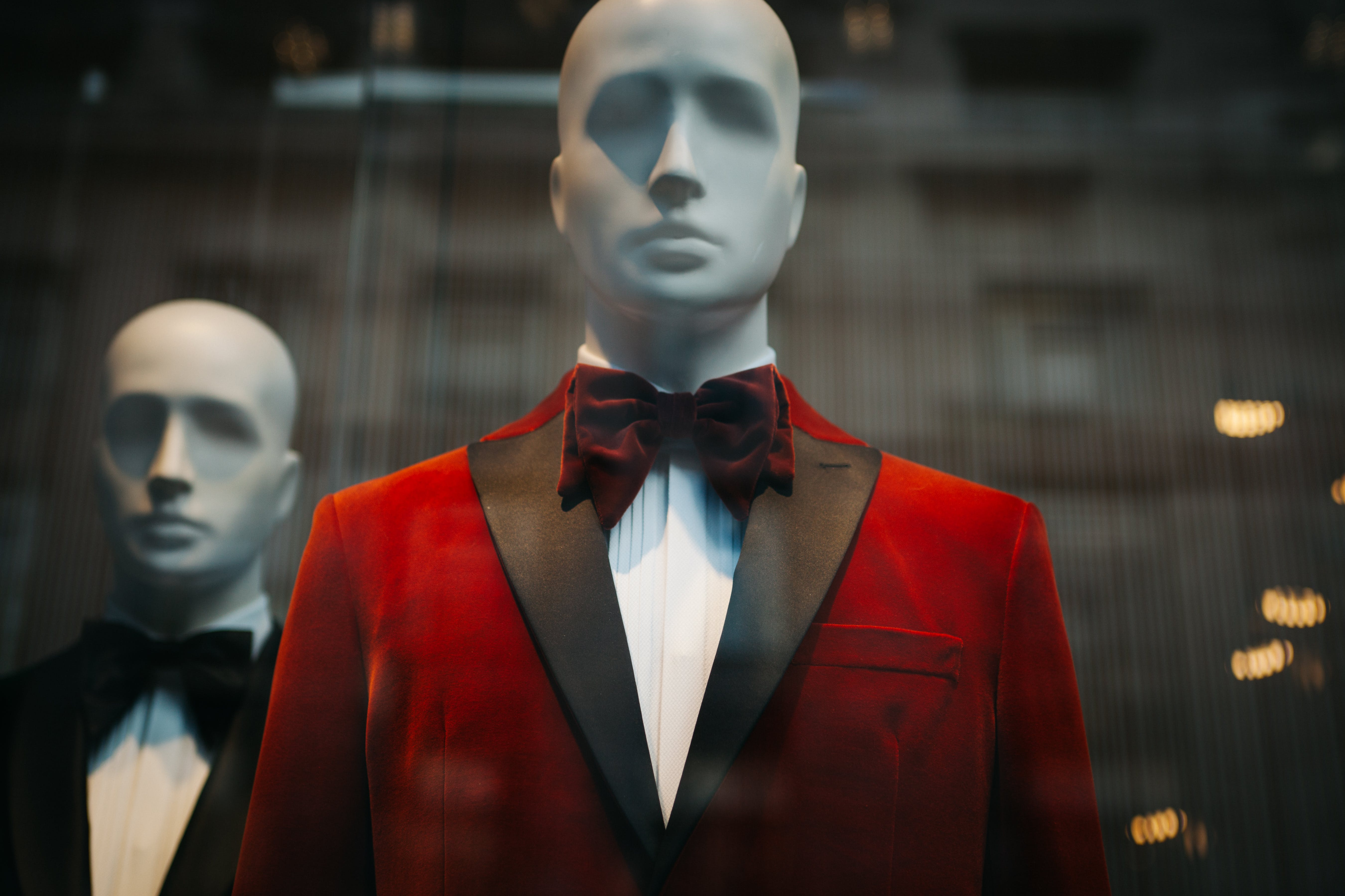 Mannequin Wearing Red Suit