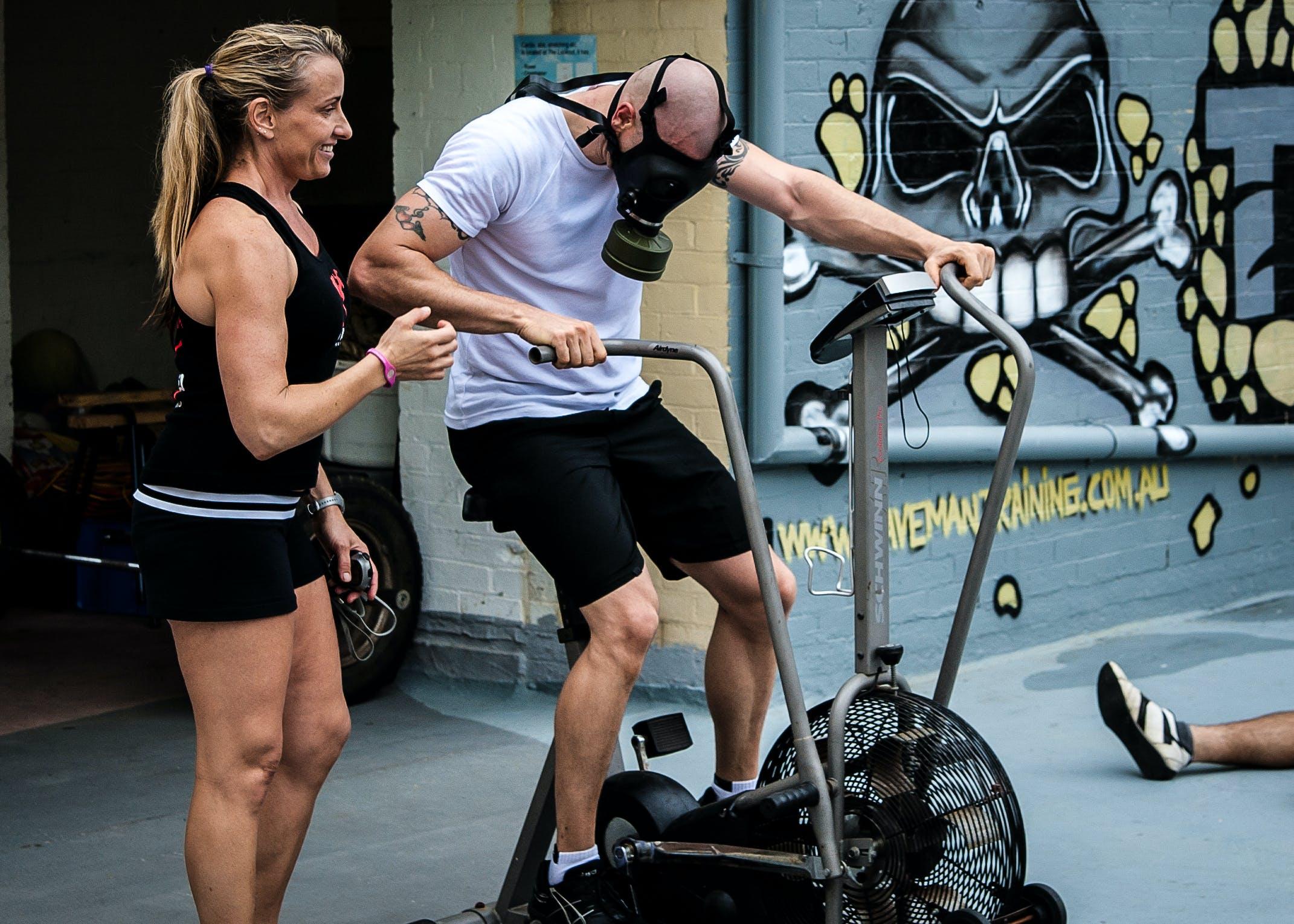 Free stock photo of training, gym, gas mask, taco fleur
