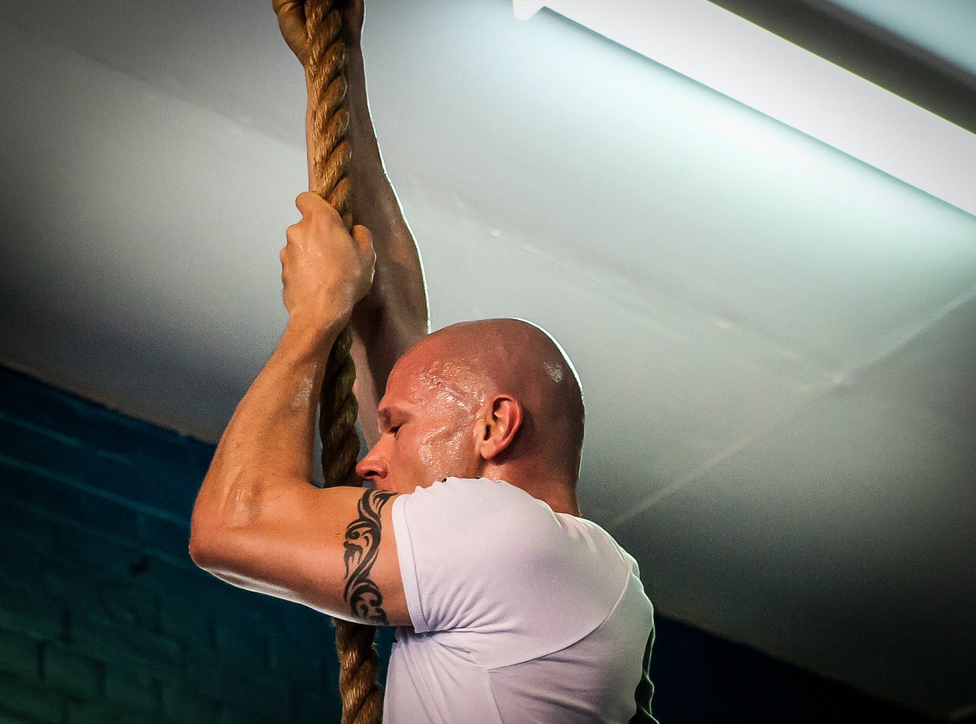 Free stock photo of cavemantraining, crossfit, rope climb, taco fleur