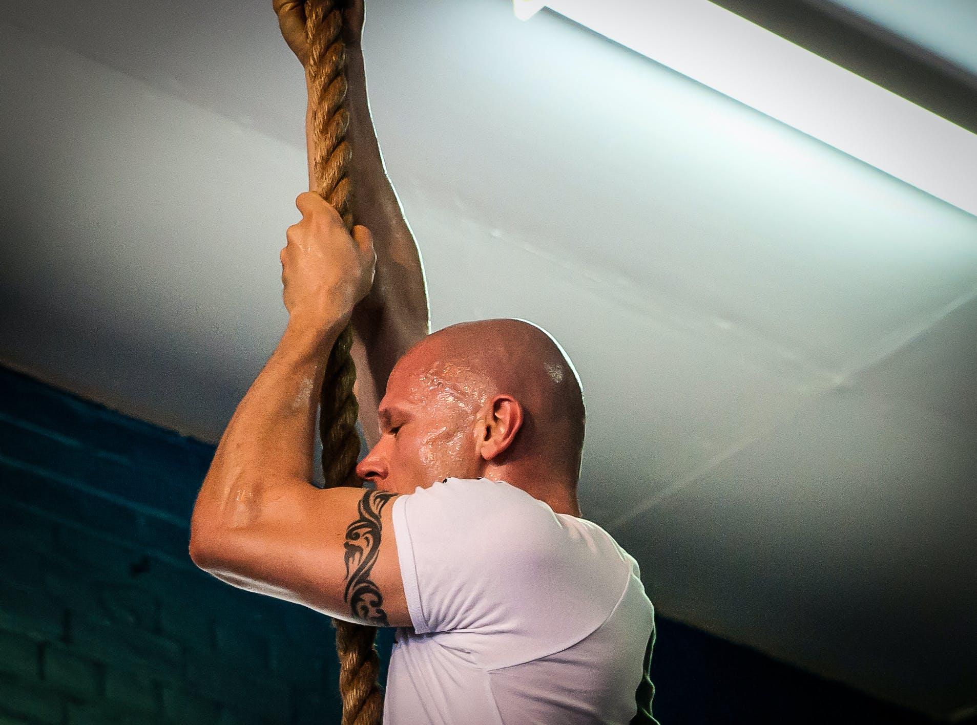Free stock photo of crossfit, taco fleur, cavemantraining, rope climb