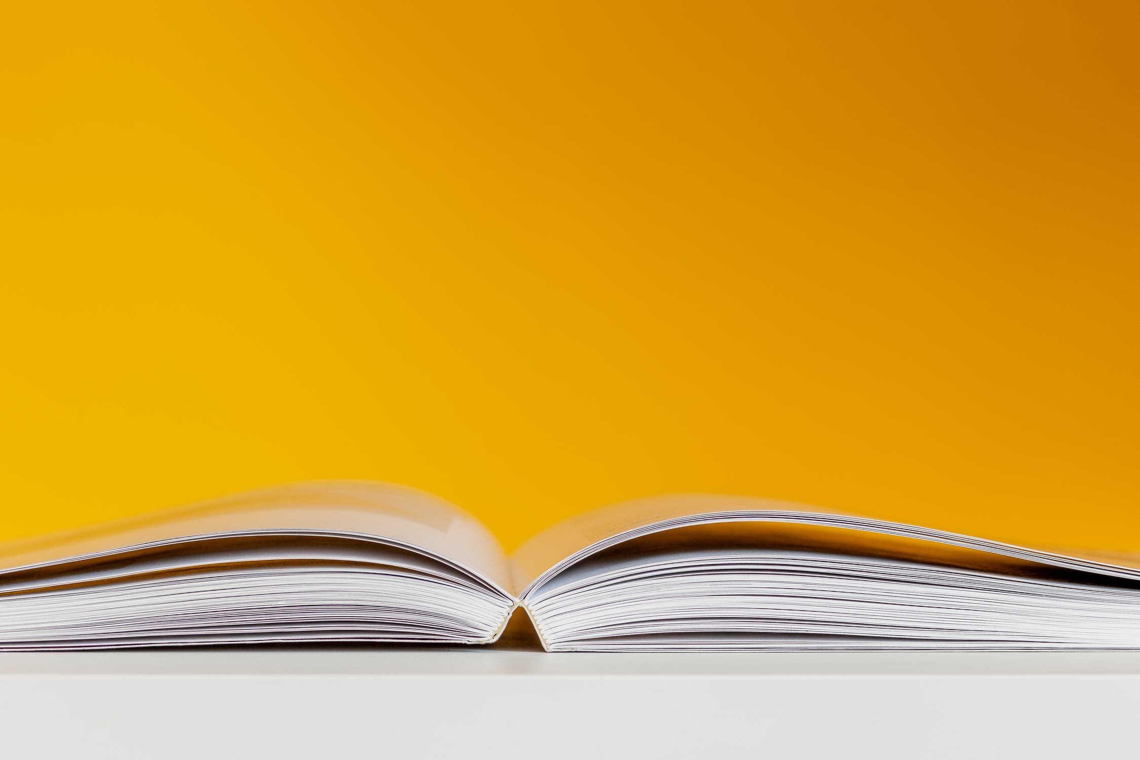 A picture of an open book