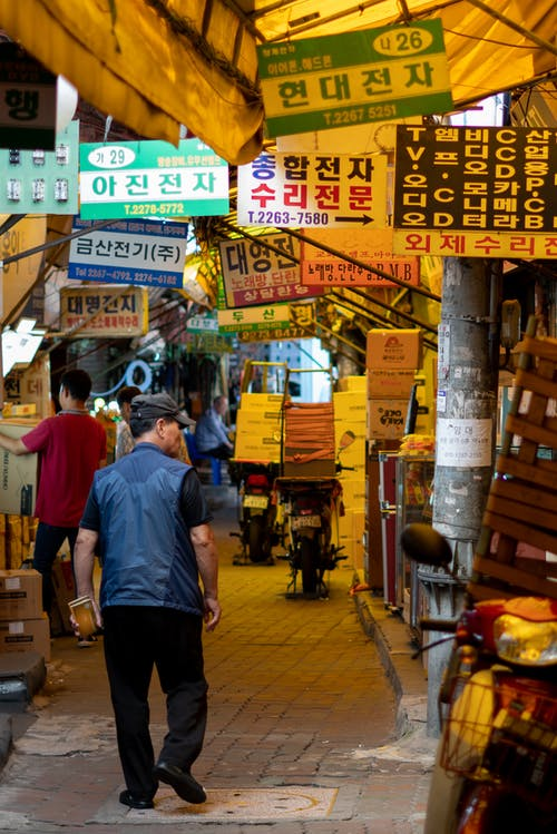 Free stock photo of asia, electronics, Electronics shops near Gwangjang Market