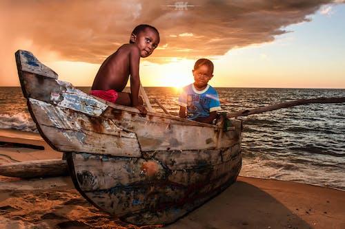 Free stock photo of africa, beach sunset, boat