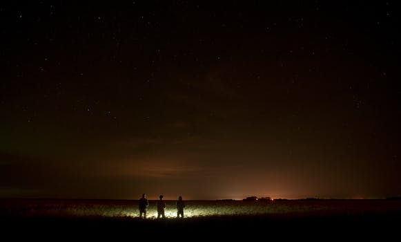 Free Stock Photo Of People Lights Night Space