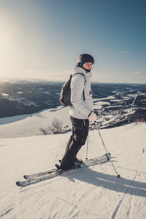 A Photo Of A Person Skiing
