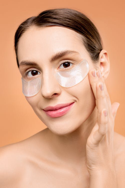 Woman With Under Eye Mask