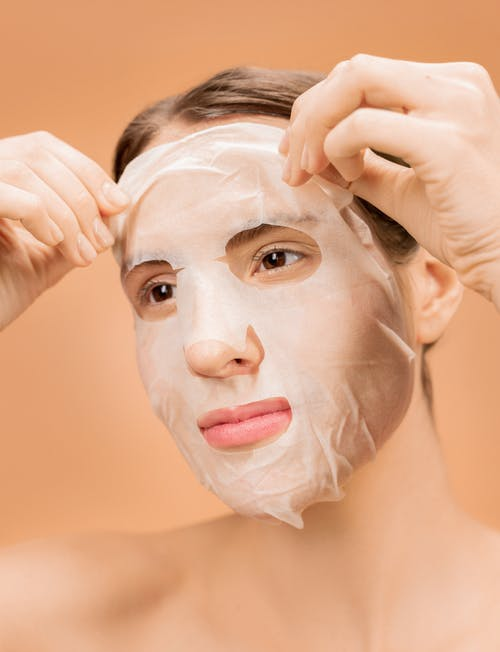 Person With White Face Mask