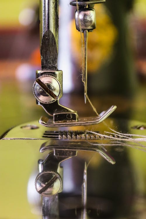 Macro Photo Of Sewing Machine