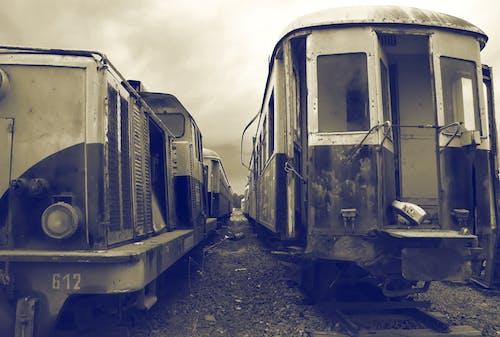 Безкоштовне стокове фото на тему «минуле, поїзд чорно-білий, поїзди, потяг»