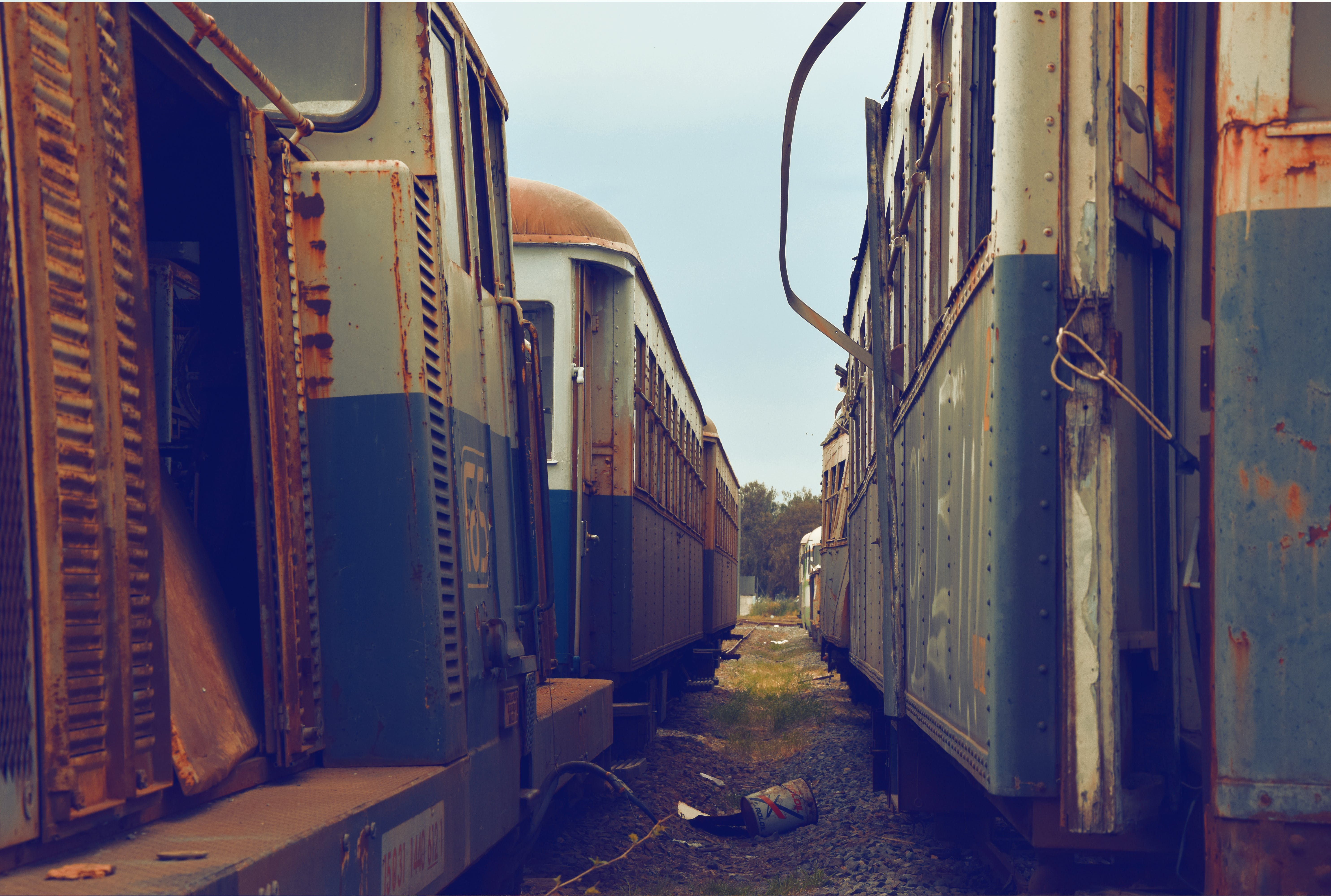 Free stock photo of ancient, colors, old station, old trains