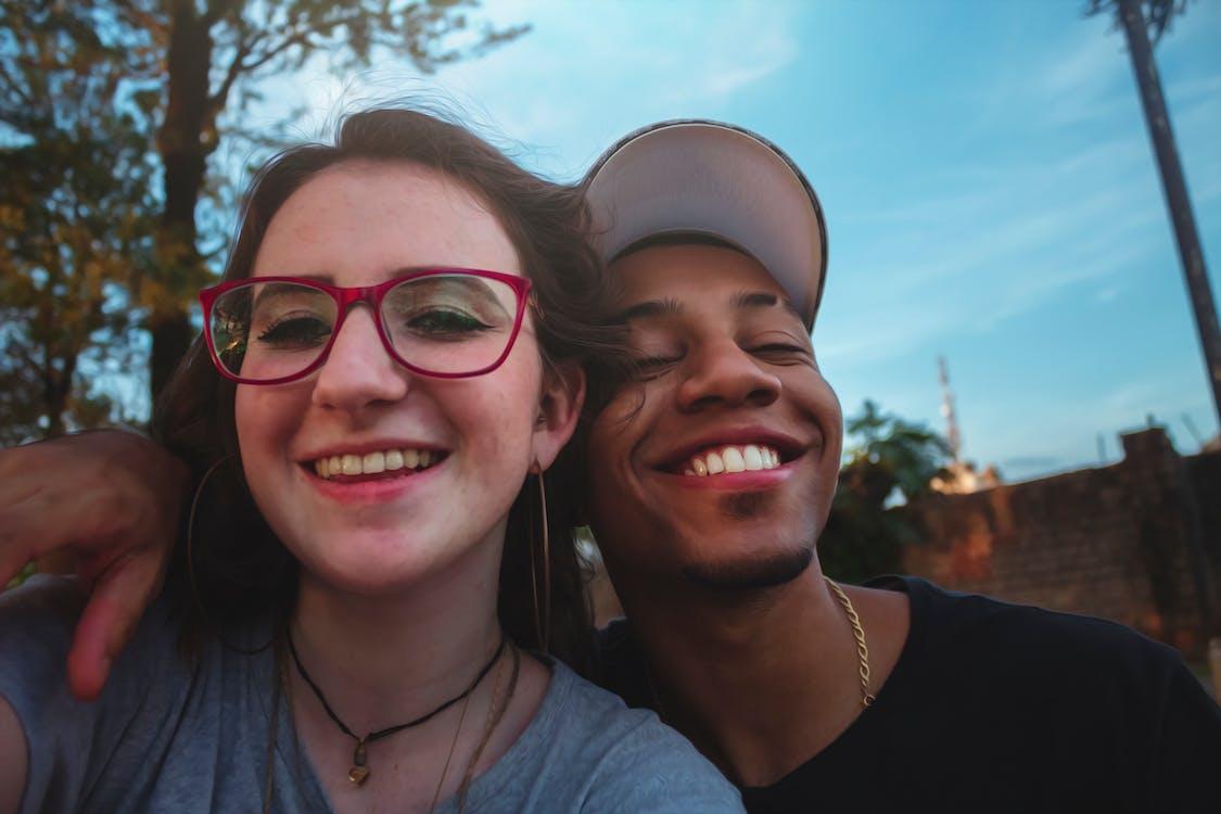 Adobe Photoshop, azure, couple in love