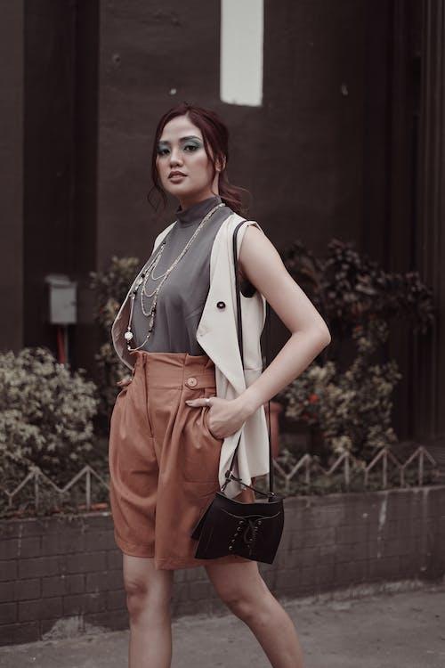 Woman Posing Outside
