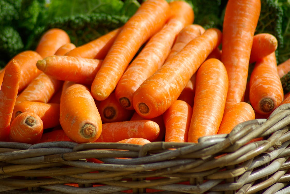 Carrots on Brown Woven Basket