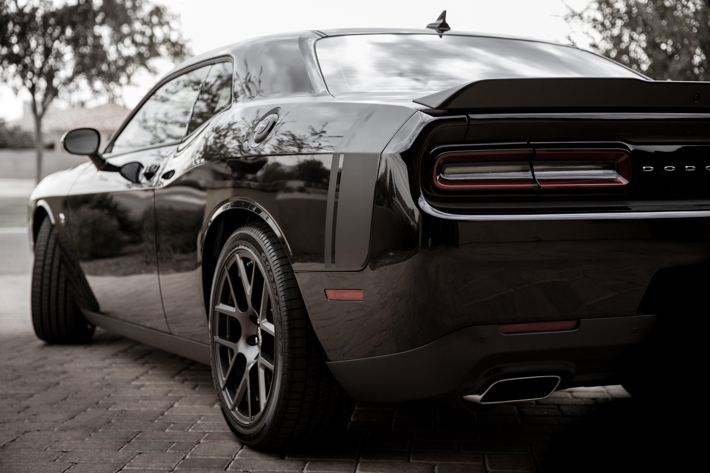 of black, Dodge Challenger, Hemi, Hemi 392