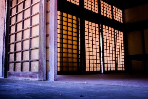 Free stock photo of colorful, door, purple, sliding door