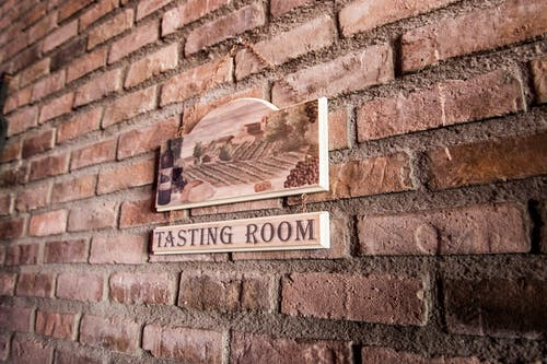 Brown Wooden Tasting Room-printed Wall Decor