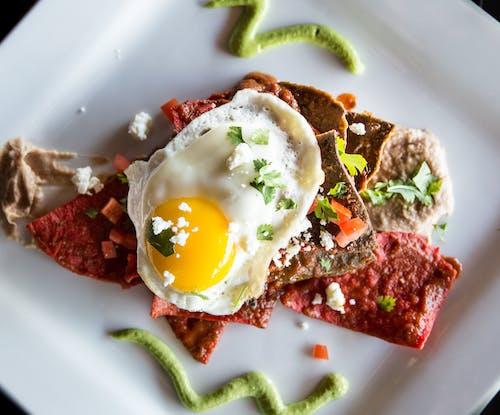 Salami With Sunny Sideup Egg