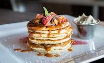 food, plate, blur