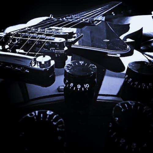 Free stock photo of black, custom, gibson, les paul