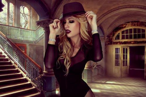 Kostenloses Stock Foto zu blond, dame, fashion, filter