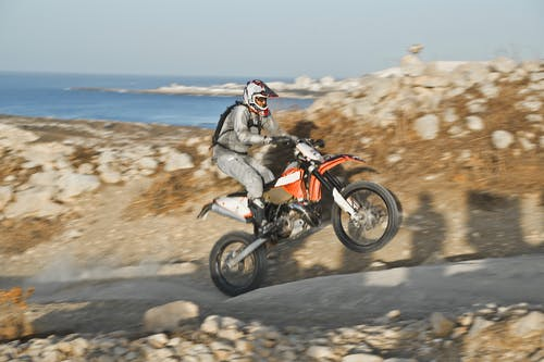 Man Riding A Dirt Bike