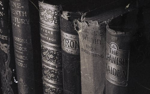 Close-up Photography of Old Books
