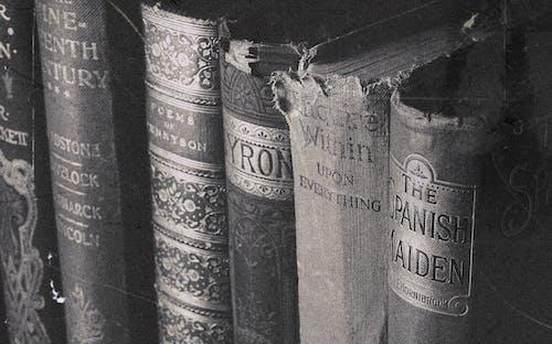 Darmowe zdjęcie z galerii z antyczny, książki, ogniskować, osłona