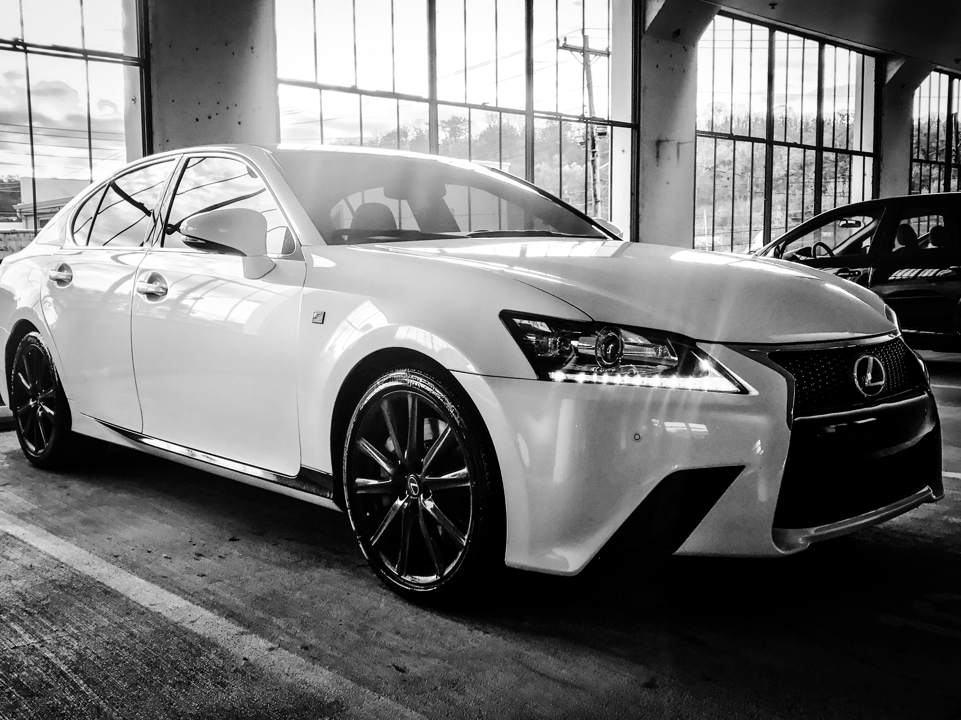 Grayscale Photography of Lexus Sedan
