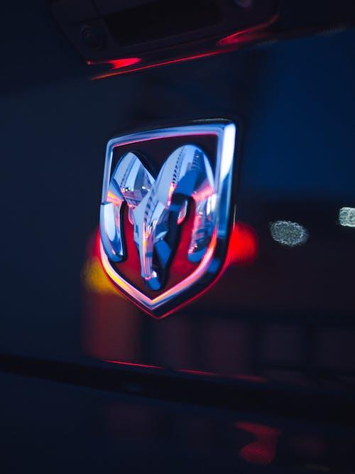 Close-Up Photo of Dodge Emblem