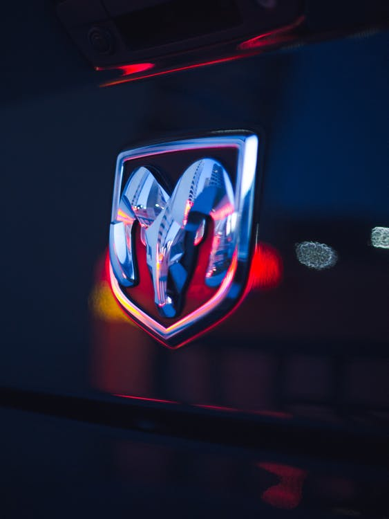 Close-Up Photo of Dodge Emblem