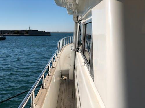 Free stock photo of blue, boat, deck, mediterranean