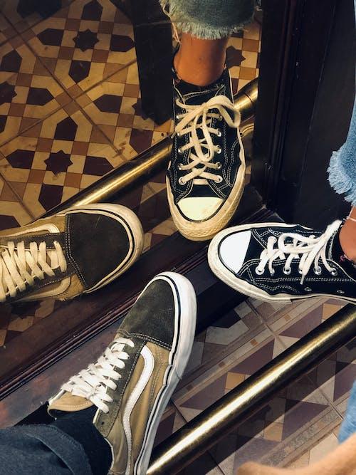 Free stock photo of artsy, couple, feet, floor