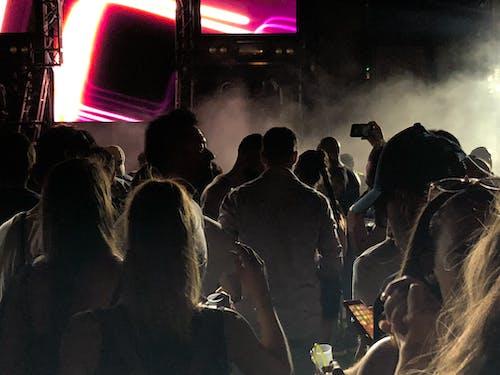 Darmowe zdjęcie z galerii z dym, fani, festiwal, grupa