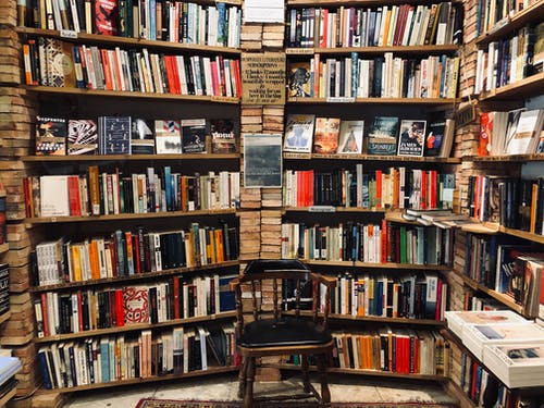 Free stock photo of book pages, book shelves, book shop, book store