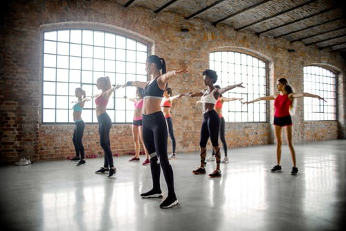 Group of Women Doing Exercise