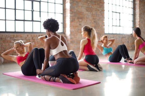 Women Doing Sit-Up