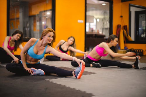 Group of Women Doing Stretching