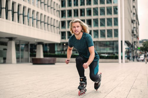 Photo of Man Roller Skating