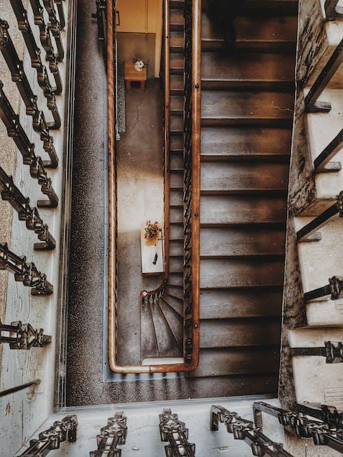 High Angle Photo of Staircase