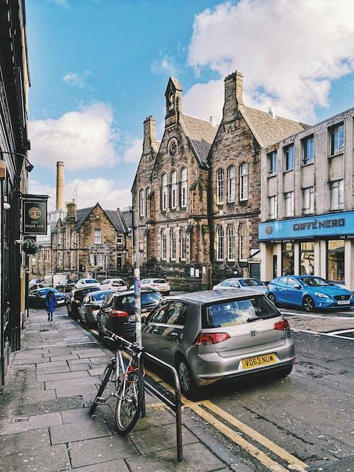 Ingyenes stockfotó Edinburgh, kék ég, Skócia, város témában