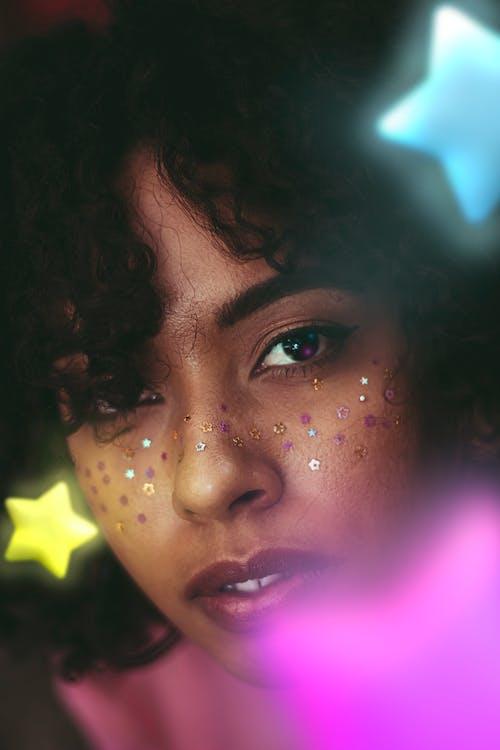 Základová fotografie zdarma na téma dekorace, detailní záběr, hvězdy, krásné oči