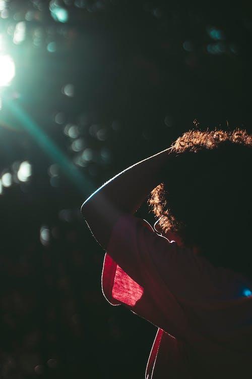 Základová fotografie zdarma na téma kudrnaté vlasy, lensflare, modelka, na výšku